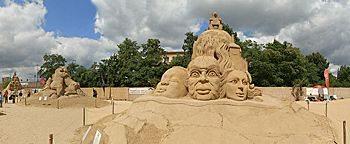 Sandsation Skulptur Indien Berlin