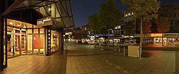 Bongardstraße bei Nacht  Bochum