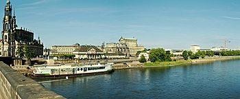 Elbe Augustusbrücke Dresden