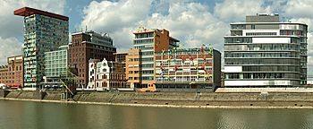 Hafengebäude Medienhafen Düsseldorf