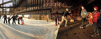Eisbahn im Sommer Zeche Zollverein Essen