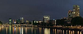 Main bei Nacht  Frankfurt