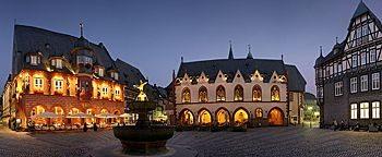 Marktplatz Goslar am Abend