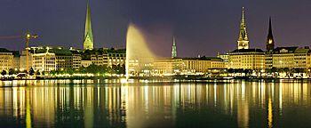Hamburg bei Nacht  Hamburg