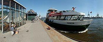 Schiffsanleger Neumühlen Hamburg