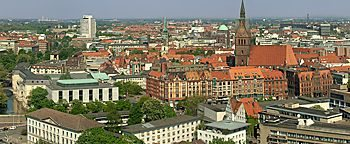 Blick auf Hannover  Hannover