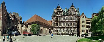 Schlosshof  Heidelberg