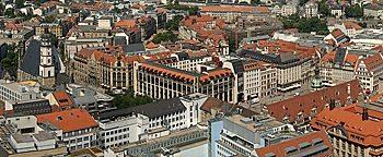 Blick auf die City Leipzig