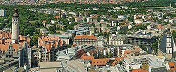 Blick auf Leipzig  Leipzig