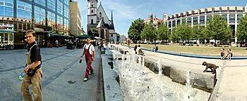 Wasserspiel-Brunnen  Leipzig