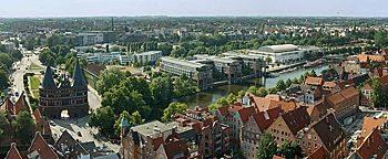 Blick auf Lübeck Lübeck