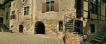 Burghof Burg Vischering Lüdinghausen