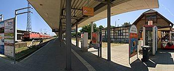 Bahnsteig Rostock