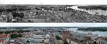 Rostock 1967 und 2012 Rostock