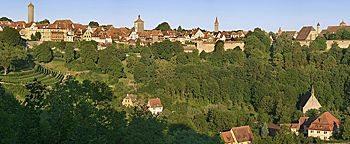 Blick auf Rothenburg  Rothenburg ob der Tauber