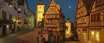 Plönlein am Abend Rothenburg ob der Tauber