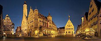 Rathaus am Markt Rothenburg ob der Tauber