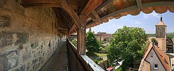 Stadtmauer-Wehrgang Rothenburg ob der Tauber