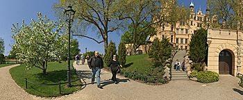 Burggarten Schweriner Schloss Schwerin