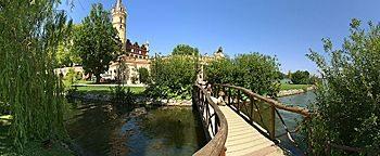 Holzbrücke Burggarten Schweriner Schloss Schwerin