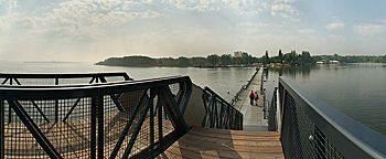 Schwimmende Brücke Schwerin
