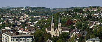 Blick auf St. Michael  Siegen