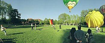 Heißluftballon Startplatz  Telgte
