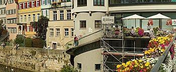 An der Neckarbrücke  Tübingen