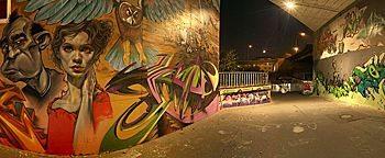 Graffiti Unterführung Wiesbaden-Mainz-Kastel