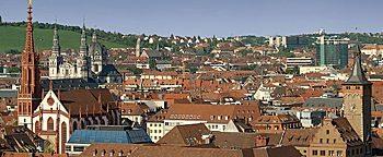 Blick auf die Altstadt Würzburg