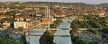 Blick auf die Stadt  Würzburg