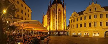 Marktplatz am Abend Würzburg